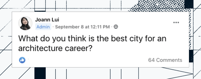 What do you think is the best city for an architecture career?
