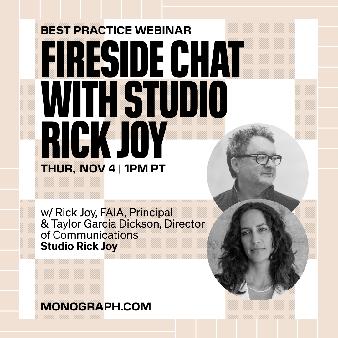 Studio Rick Joy: Fireside Chat (w/ Rick Joy, FAIA & Taylor Garcia Dickson)