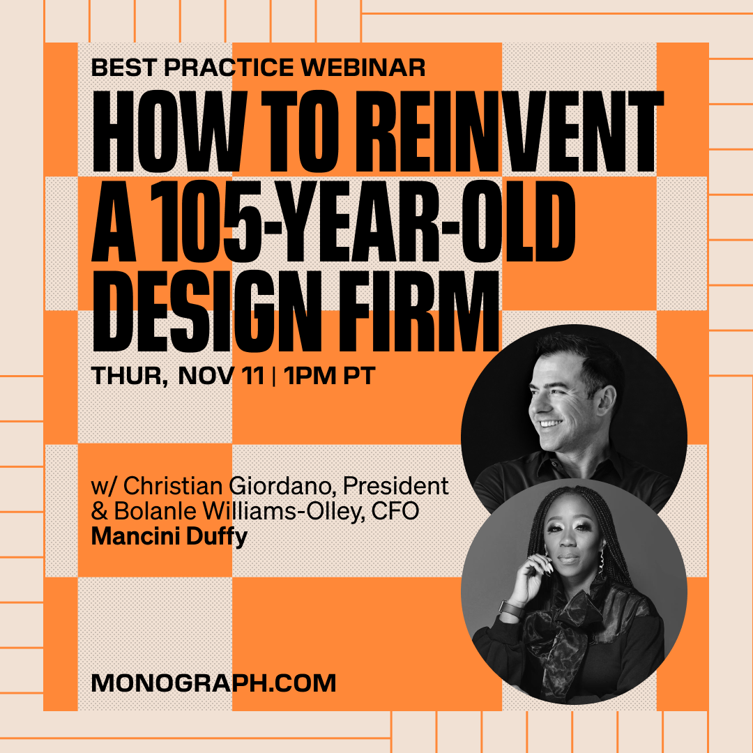 Mancini: How to Reinvent a 105-Year-Old Design Firm (w/ Christian Giordano, Bolanle Williams-Olley )
