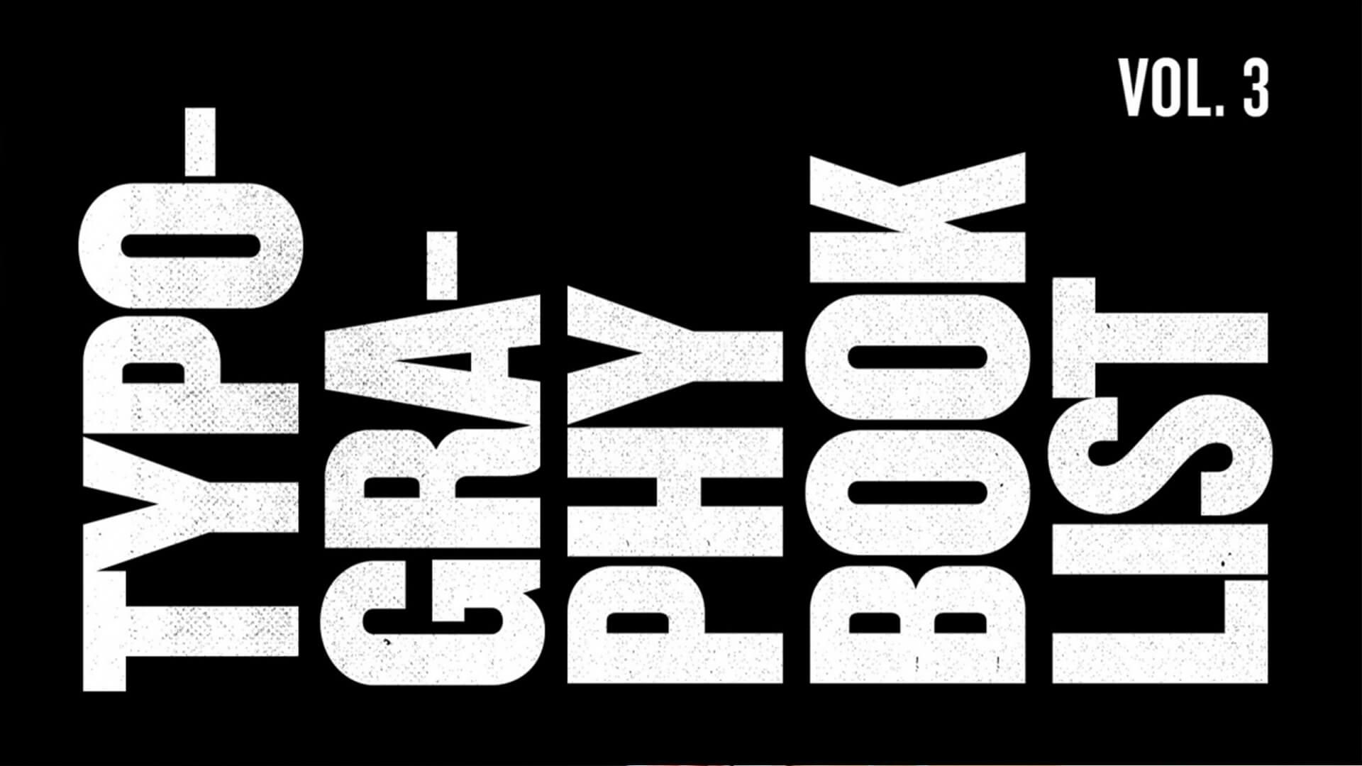 Essential Design Books Vol. 3: Typography