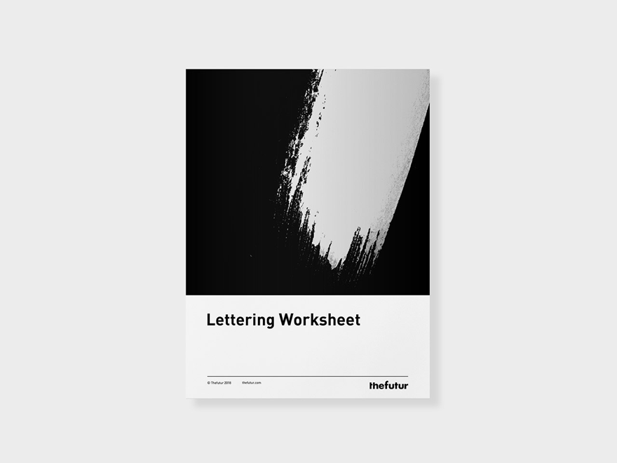 Lettering Worksheet