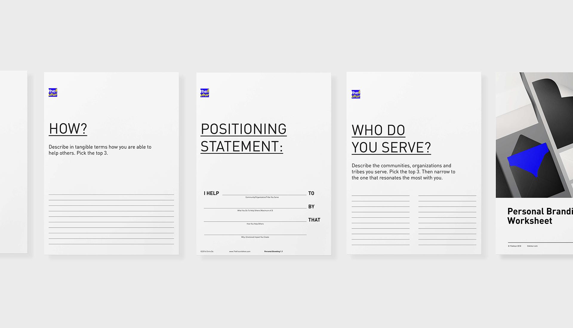 Personal Branding Worksheet Free Download The Futur