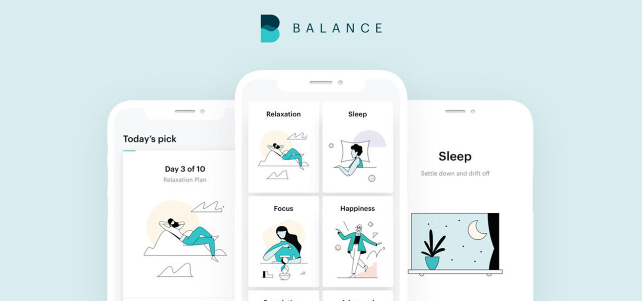 The Balance app can help you relax, sleep better, focus, or find moments of happiness throughout the day.