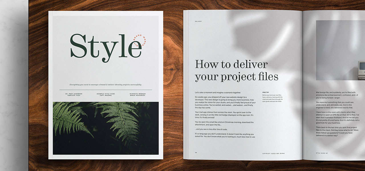 The Style Guide Kit will help you deliver tight branding guidelines for brands you manage or work on.