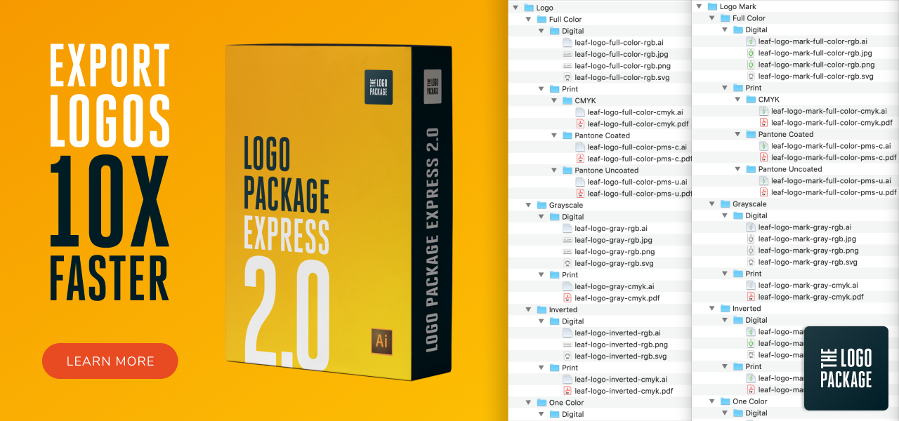 The Logo Package Express 2.0 Illustrator extension.
