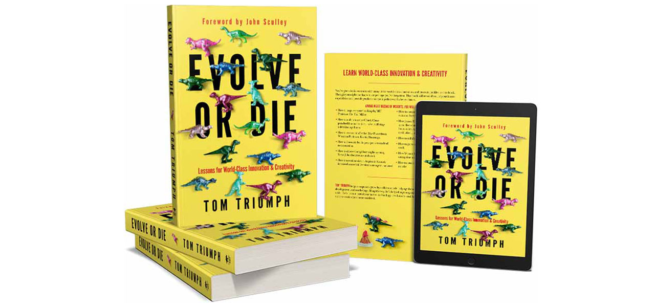 Evolve or Die book cover on paperback and e-book.