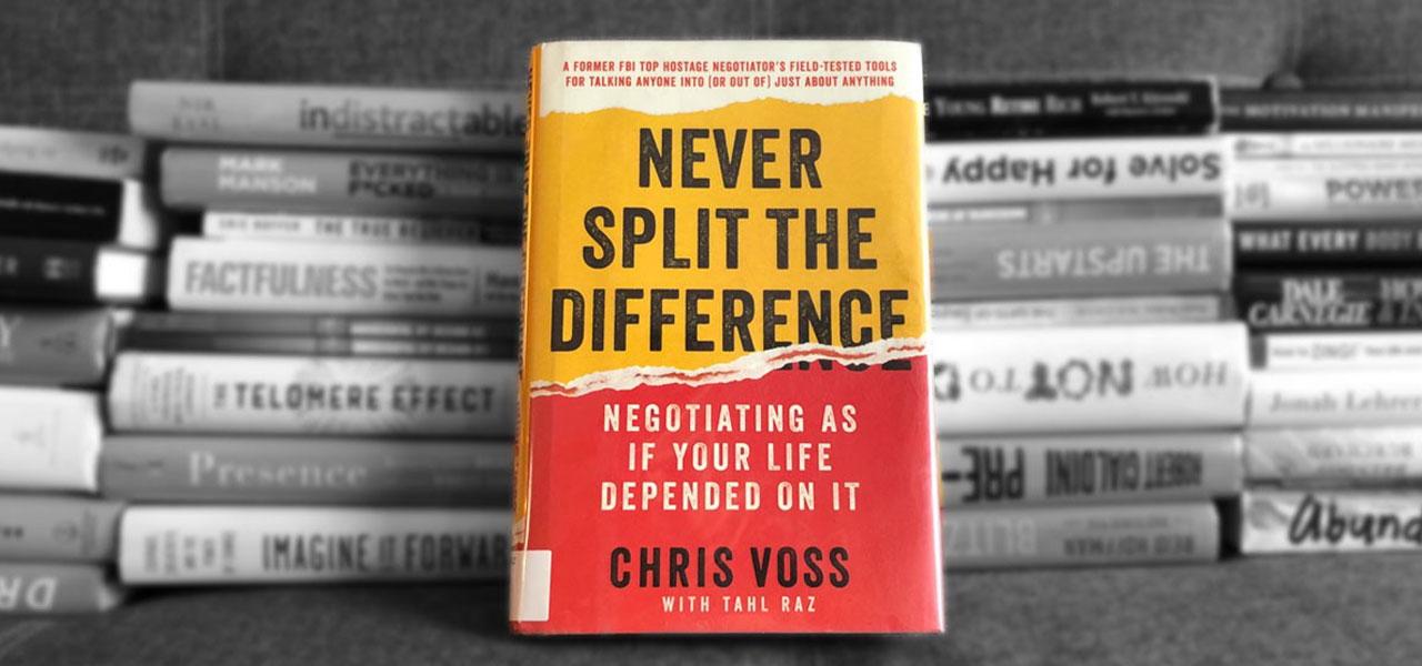 Never Split the Difference by Chris Voss cover.