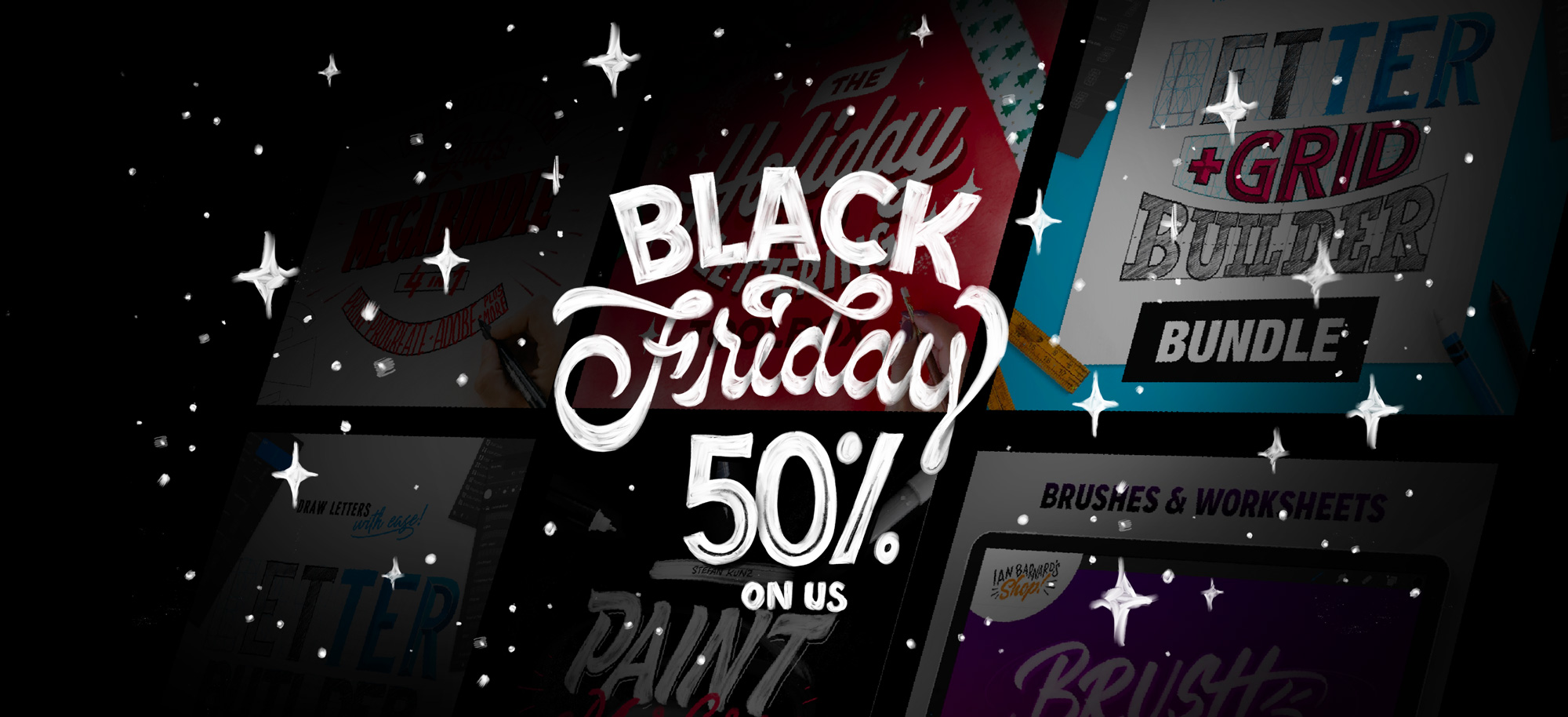Save 50% on all Stefan Kunz's lettering courses and tools this Black Friday weekend.