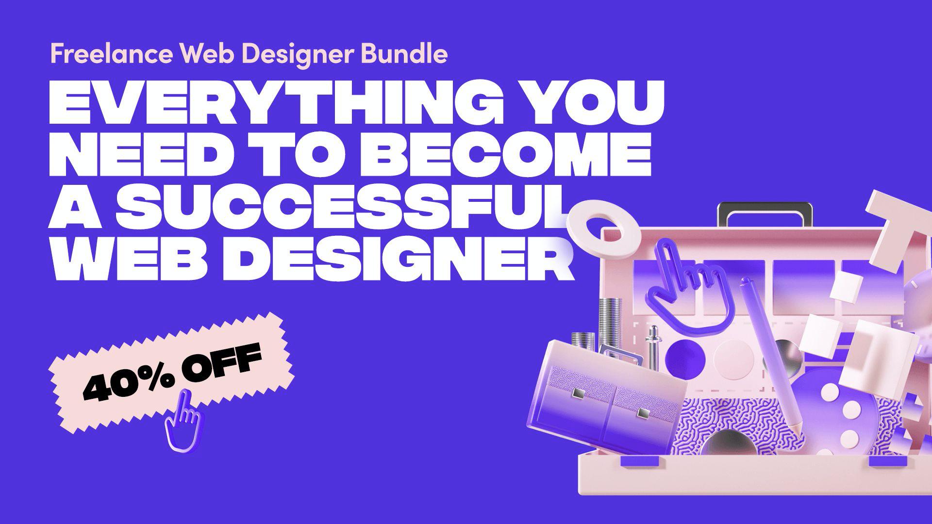 在自由职业者网页设计师捆绑上节省40%。
