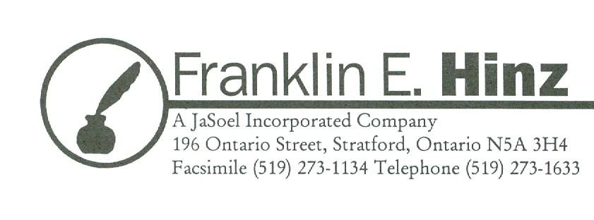 Franklin E. Hinz, B.B.A