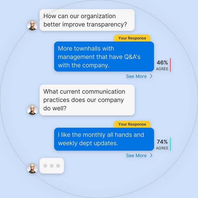 Participant view in Remesh - employee experience