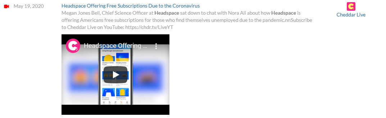 Headspace takes on Coronavirus effects