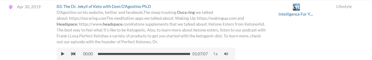 Oura on podcasts