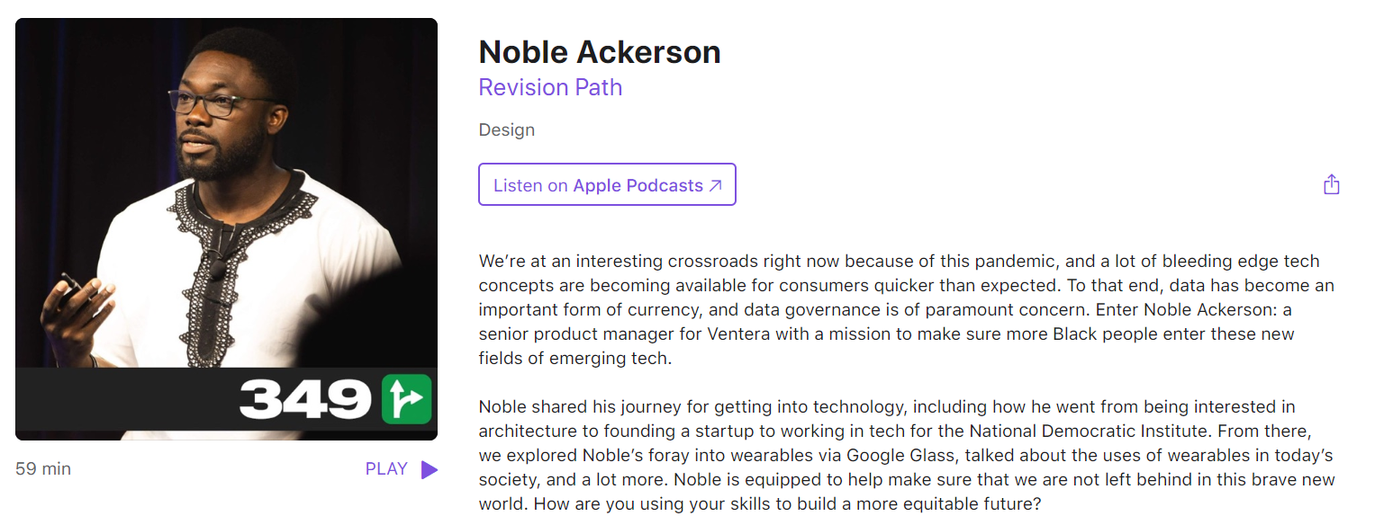Noble Ackerson podcast