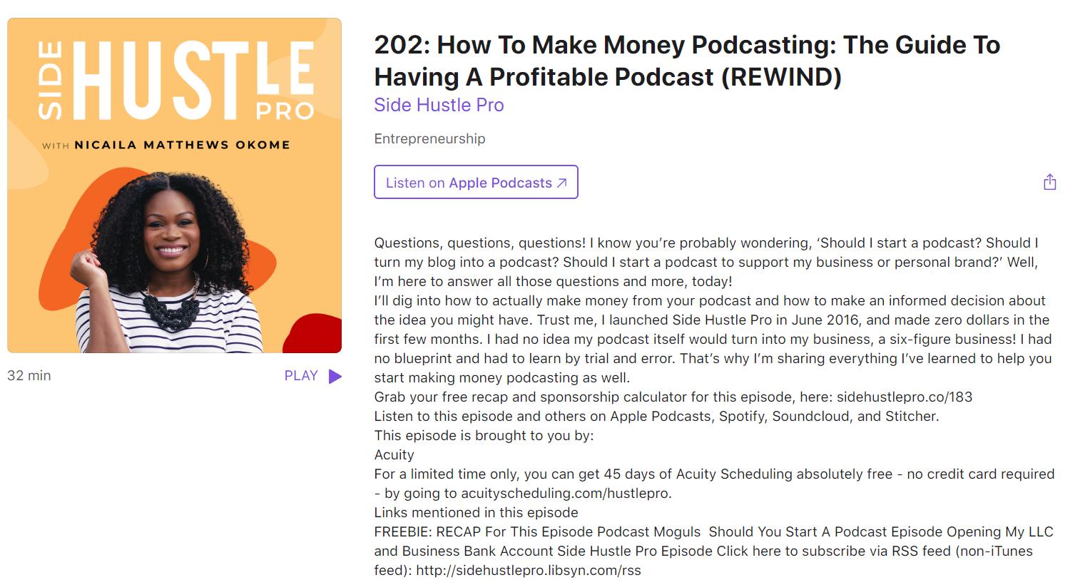 Side Hustle Pro podcast