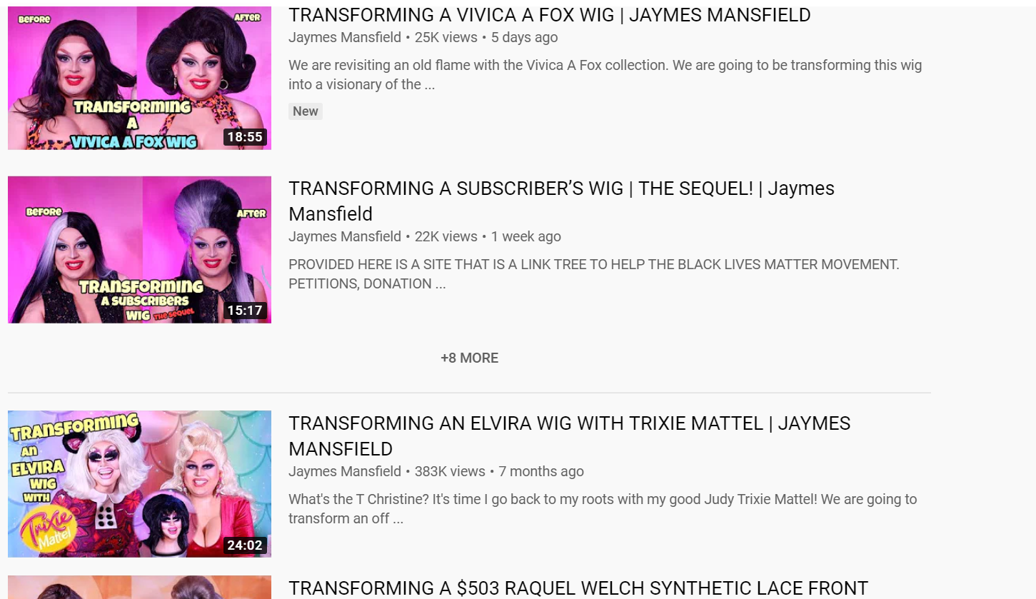 Jaymes Mansfield YouTube channel
