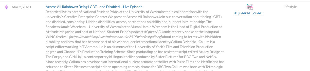 #QueerAF podcast episode