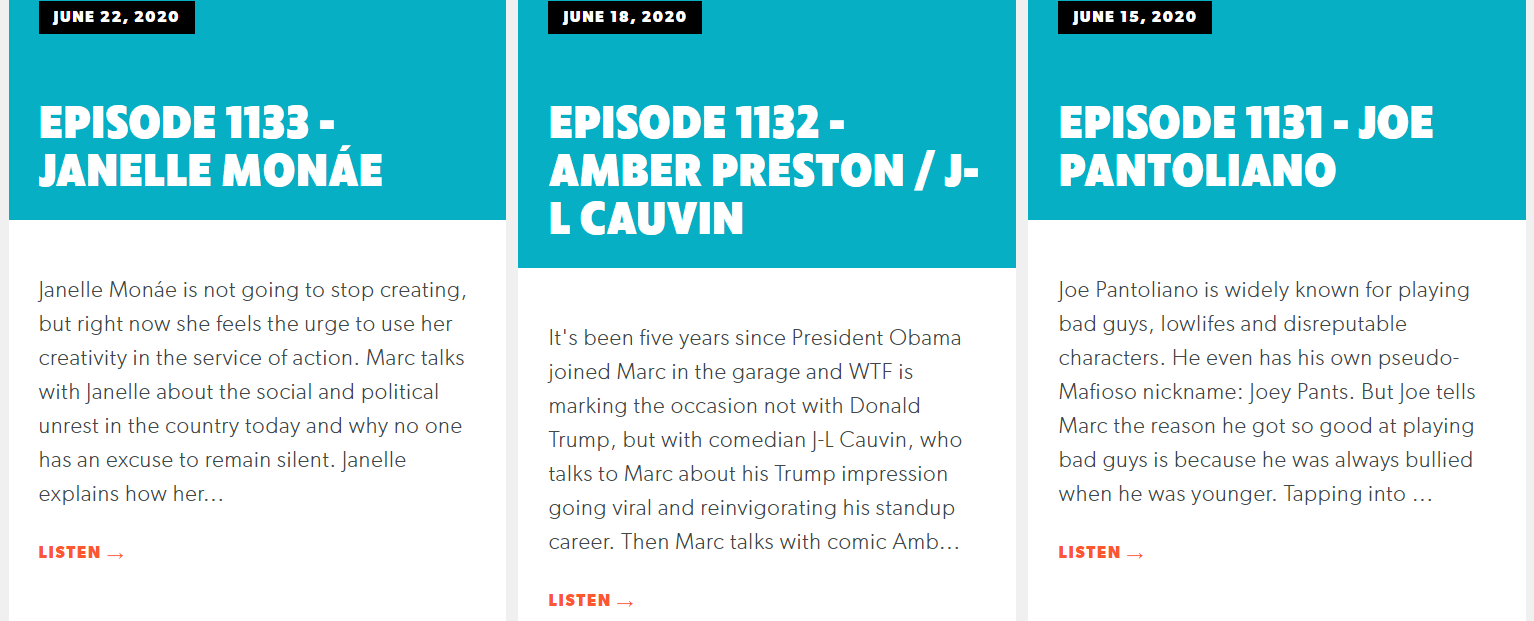 WTF with Marc Maron podcast