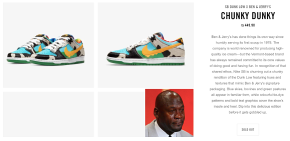 Nike and Ben & Jerry's marketing collaboration