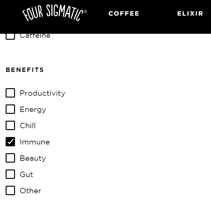 Four Sigmatic coffee offering