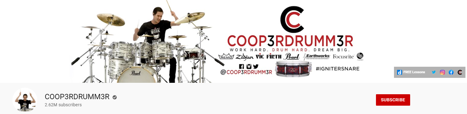 COOP3RDRUMM3R YouTube channel