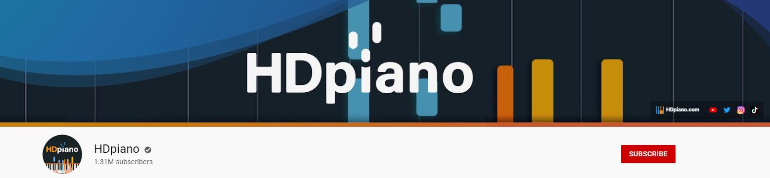 HDpiano YouTube channel