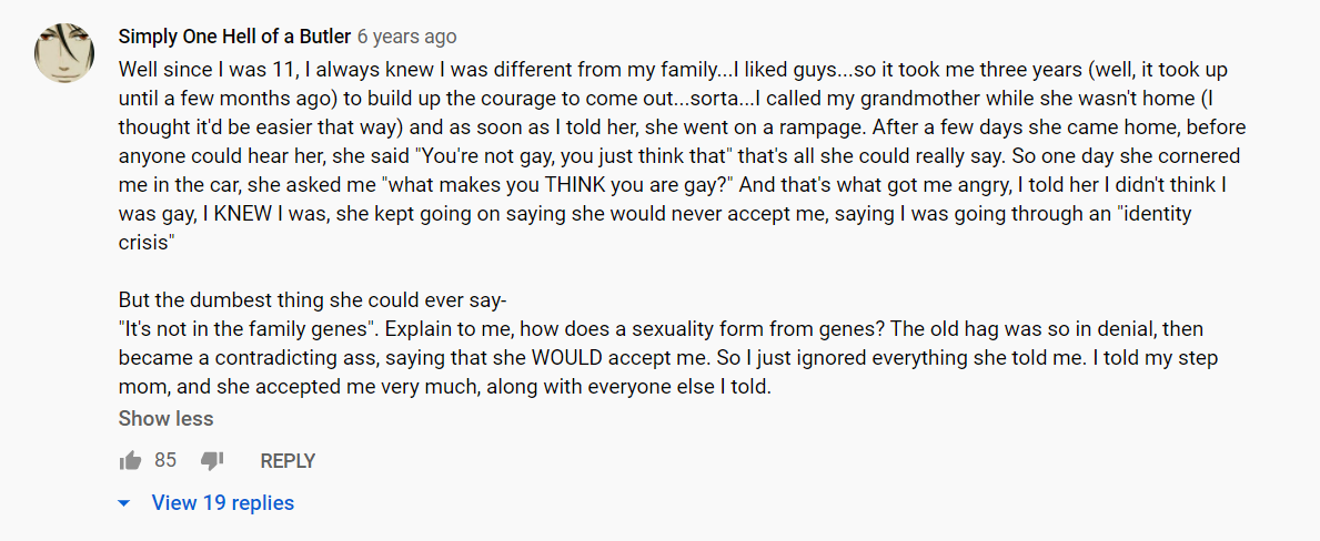 coming out comments