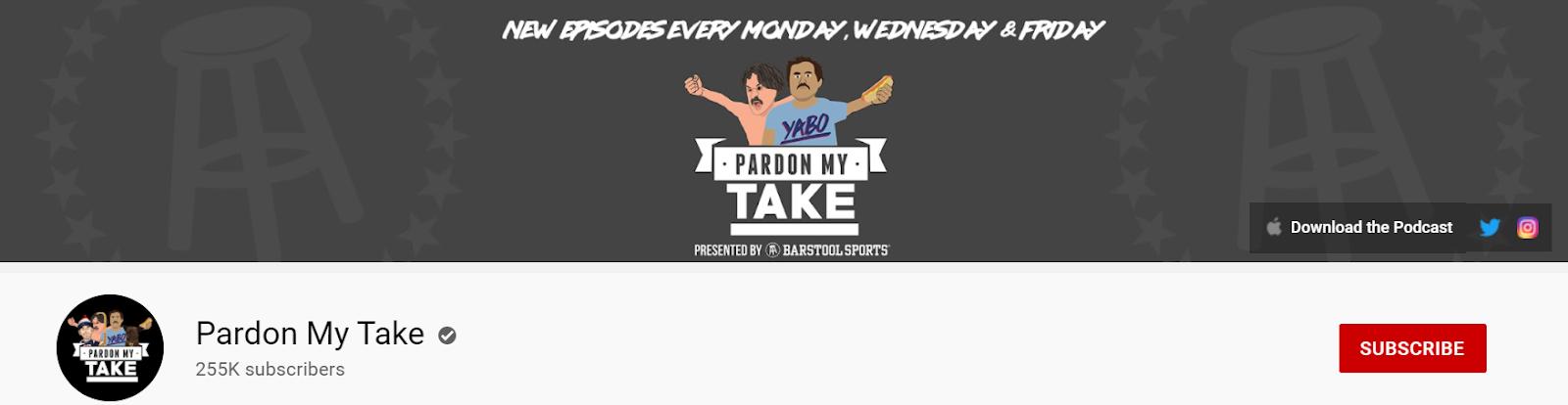 Pardon My Take YouTube