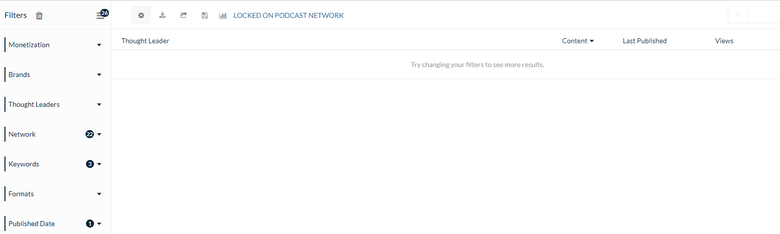 Locked on Podcast zero mentions of above keywords