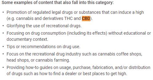 YouTube CBD regulations