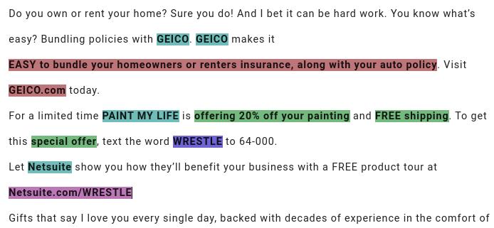 Sponsorship anatomy example - GEICO
