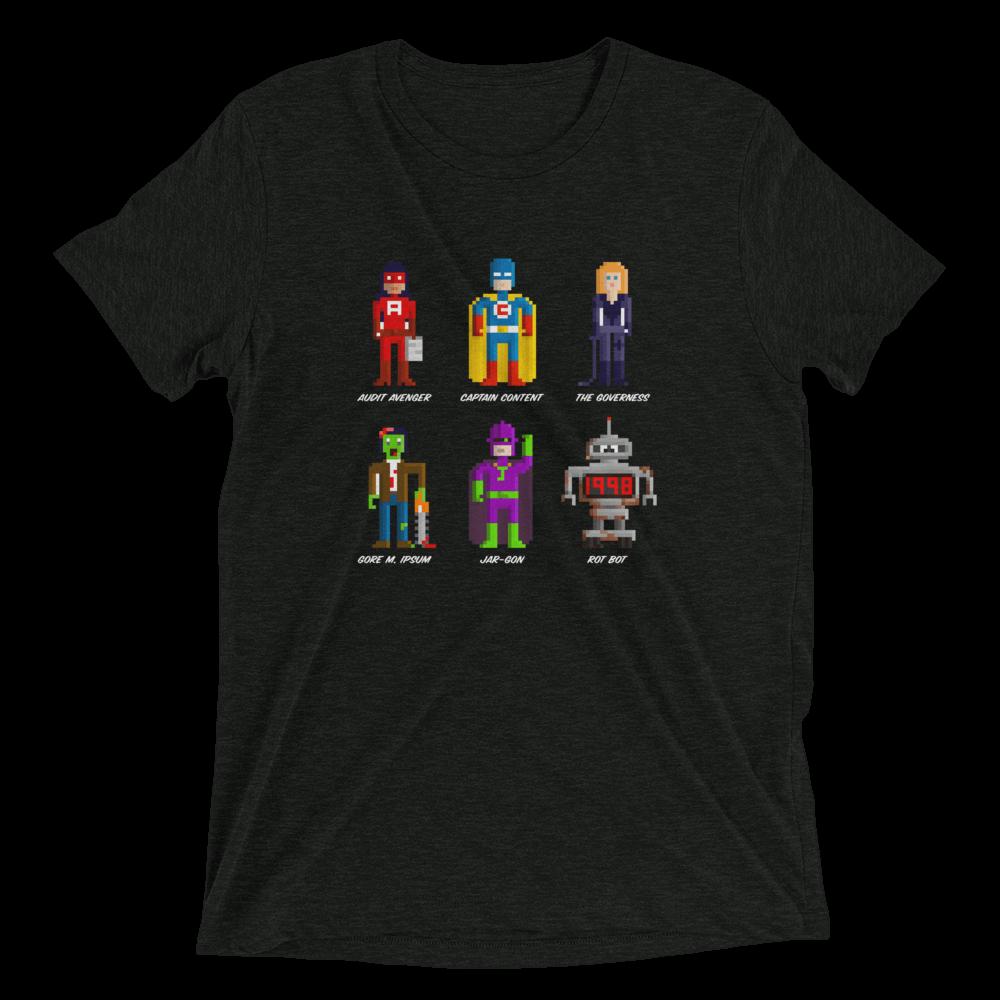 Confab 2013 content strategy superheroes unisex T-shirt