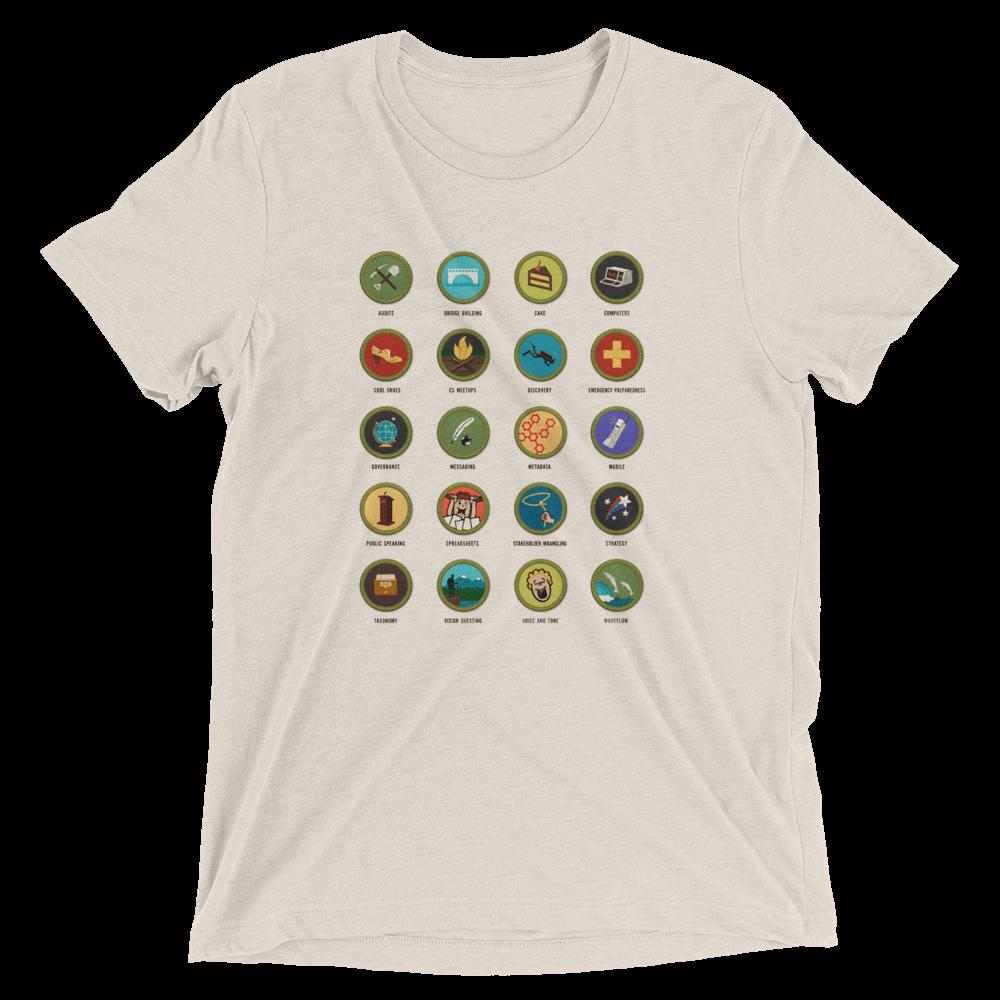 Confab 2014 content strategy merit badges unisex T-shirt