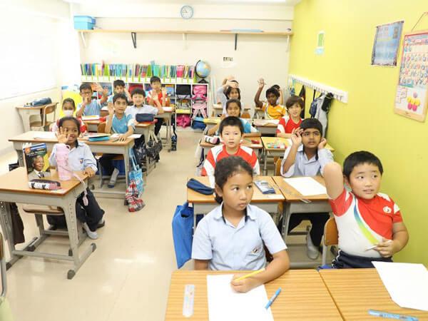 Primary School Students at GIIS Tokyo Campus Classroom