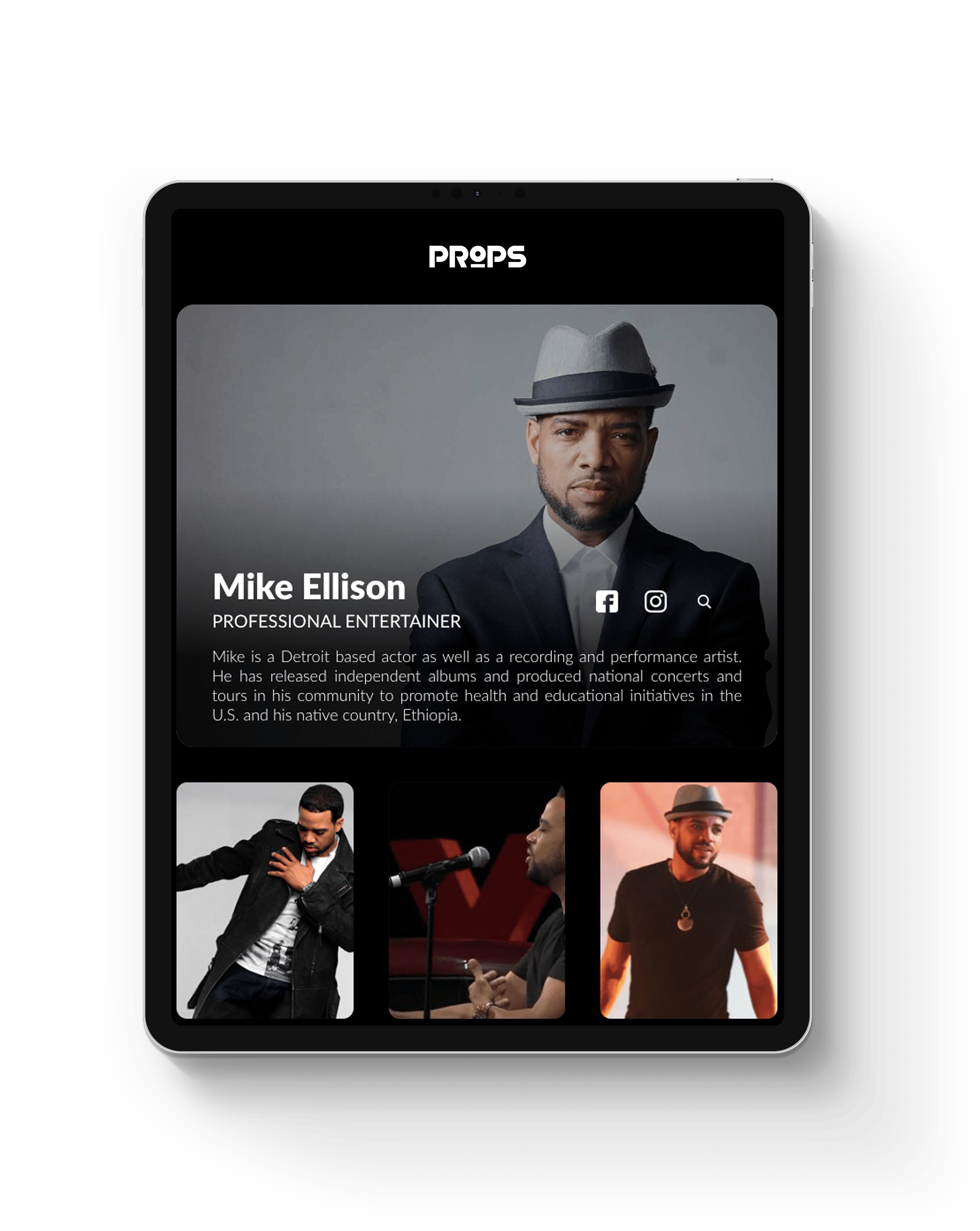 mike Ellison webpage image