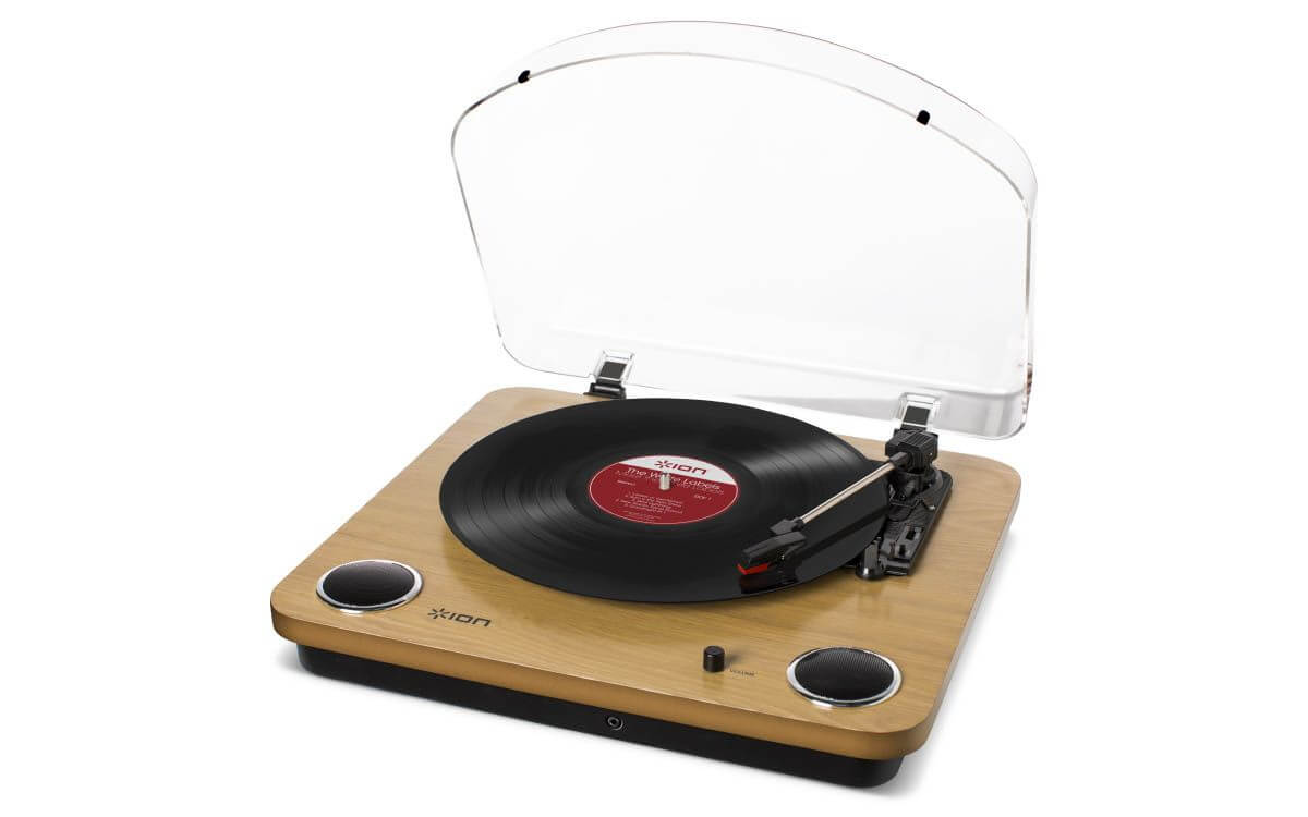 A record player.