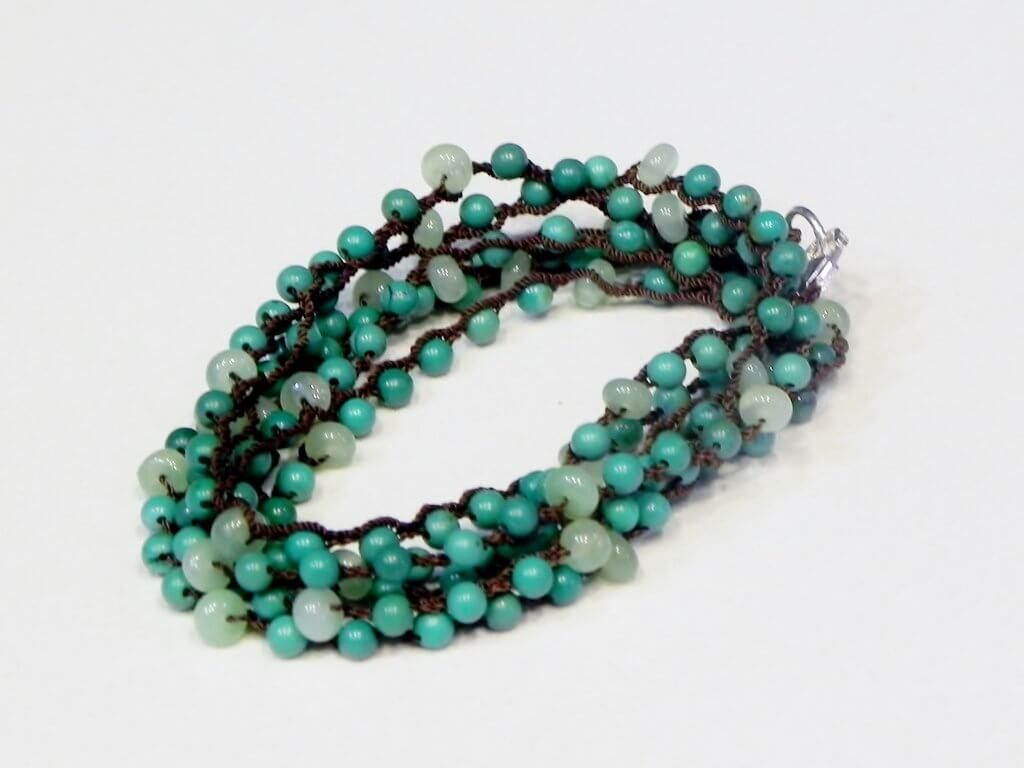 The Itay Yona One Love Wrap in Prehnite and Turquoise.