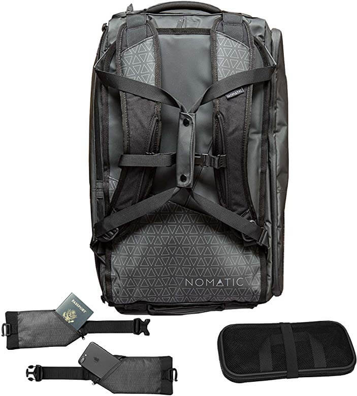 The rear view of the Nomatic Travel Bag.