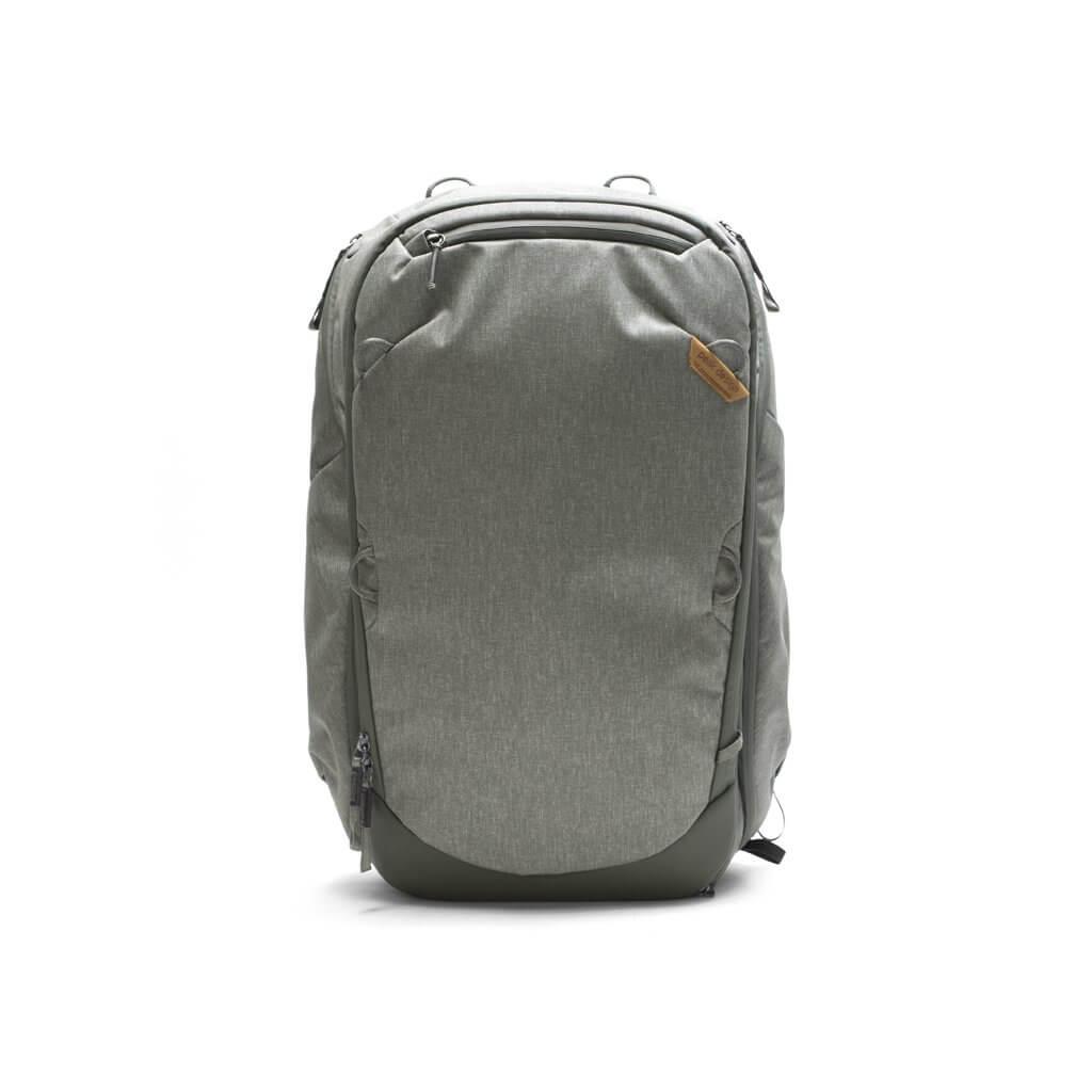 The Peak Designs Travel Backpack in gray.