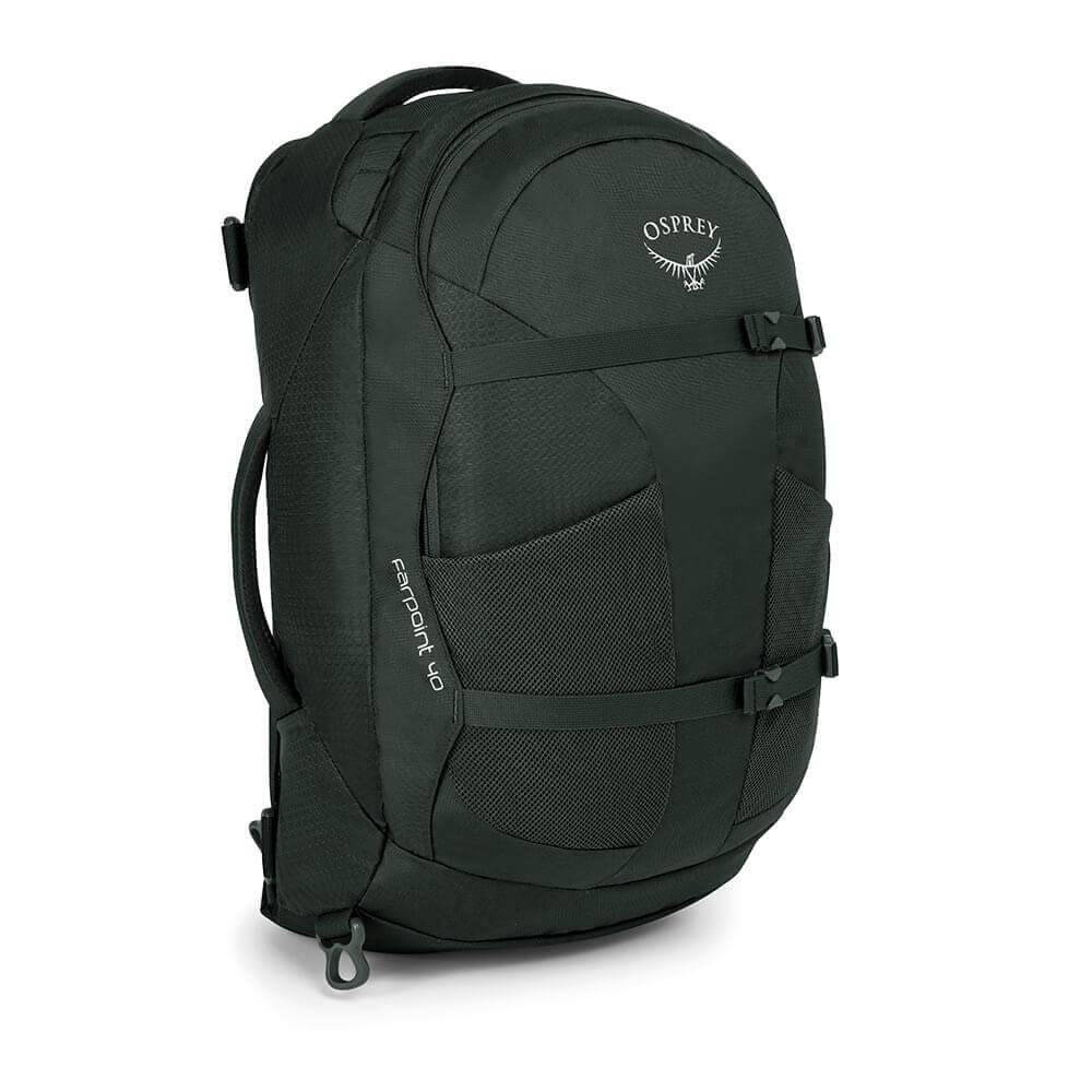 The Osprey Farpoint 40 in black.