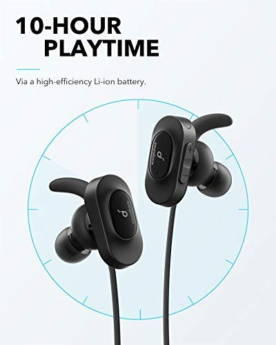 The Soundcore Sport headphones, featuring 10-our playtime.