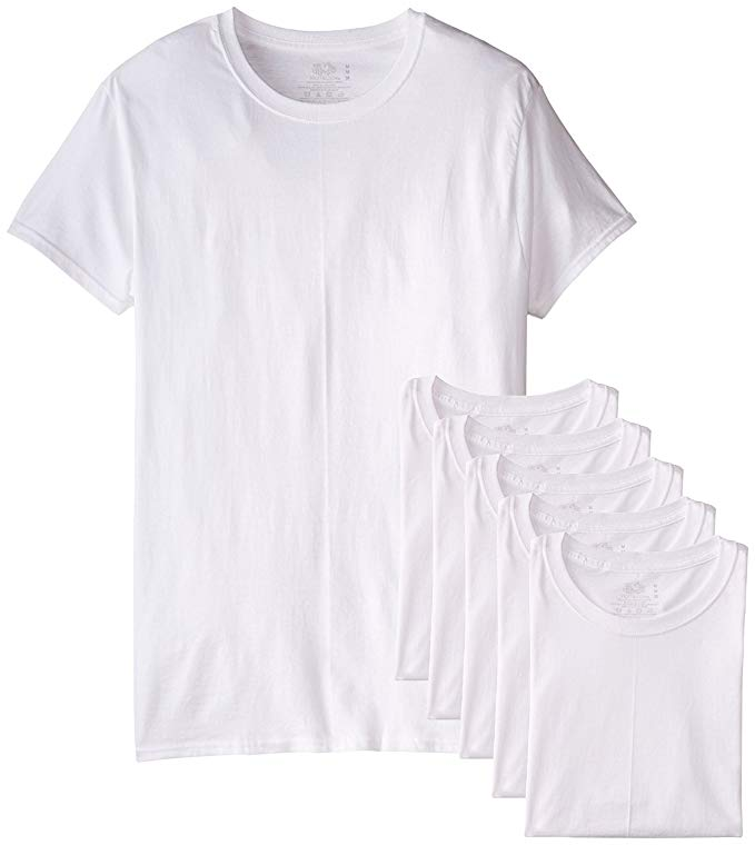 6 plain white undershirts from Fruit of the Loom.