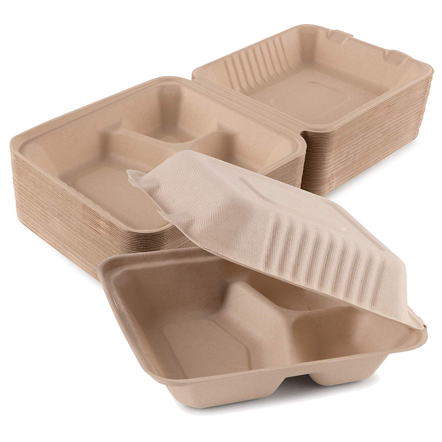 Cardboard meal prep containers.