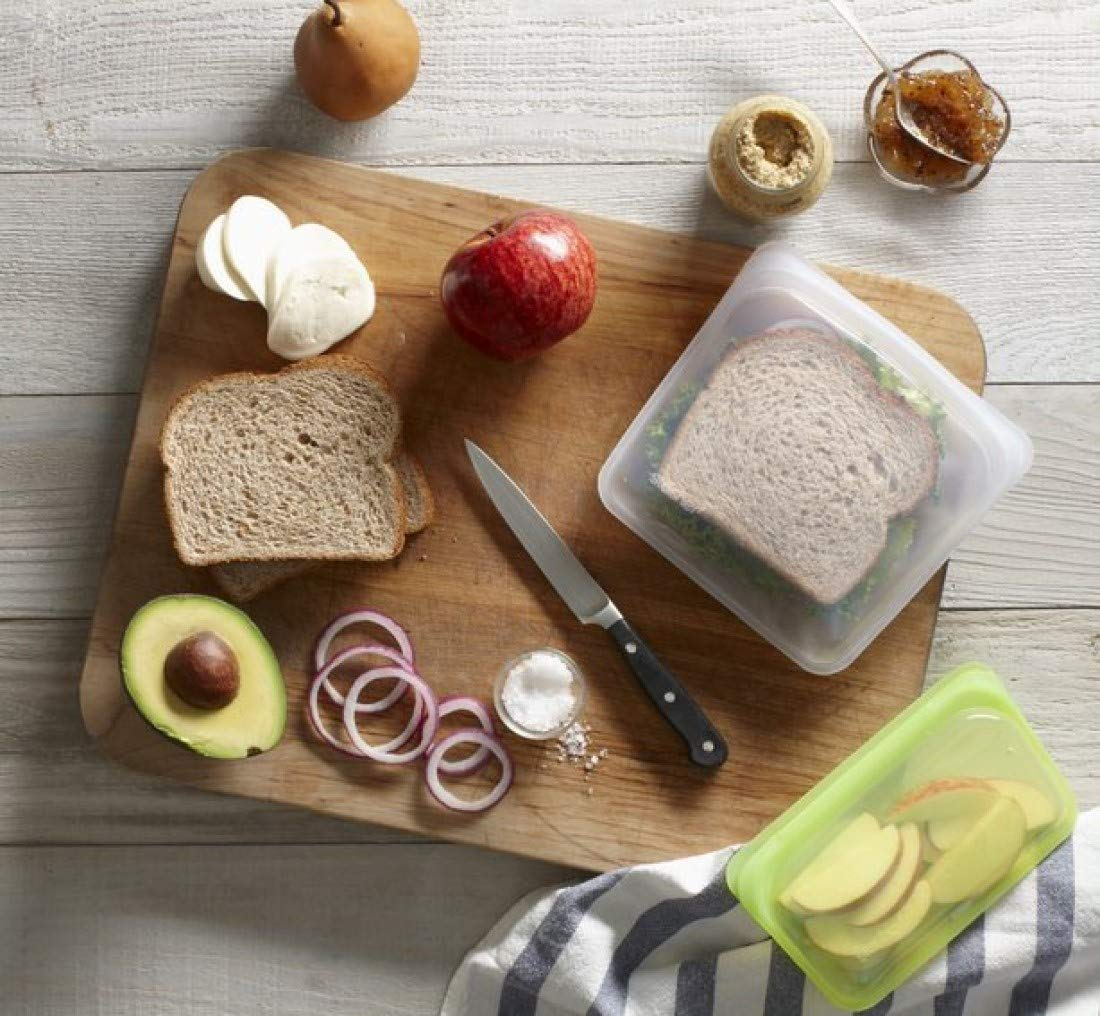 Reusuable silicone bags are perfect for sandwiches.