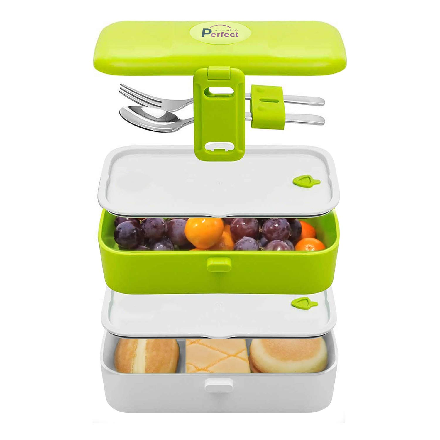 An easy to clean meal containter with multiple layers.