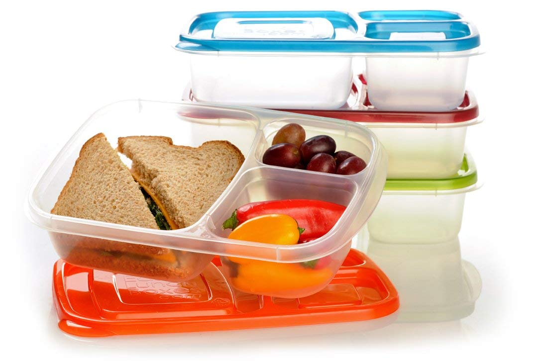 A stack of meal containers.