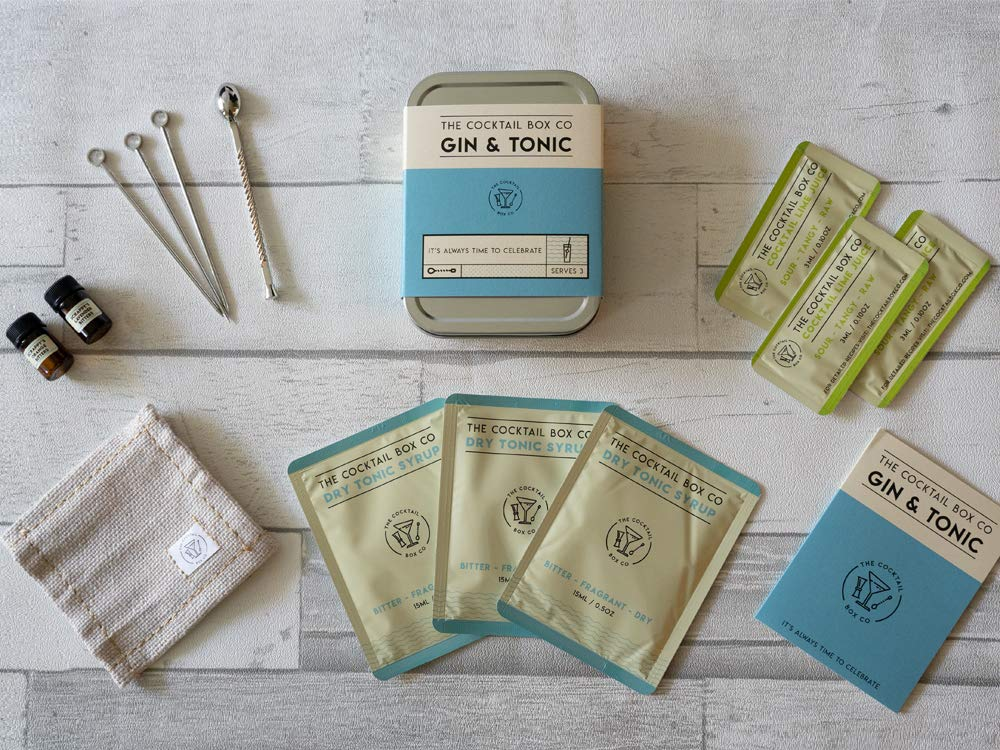 A Gin and Tonic cocktail kit.