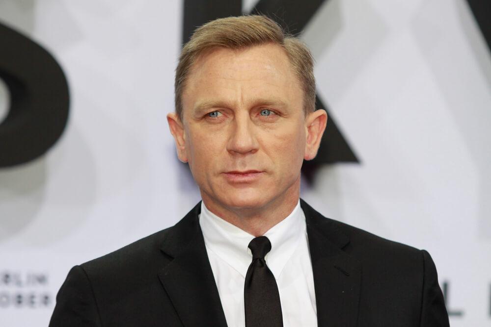 Daniel Craig at the premier of James Bond: No Time To Die