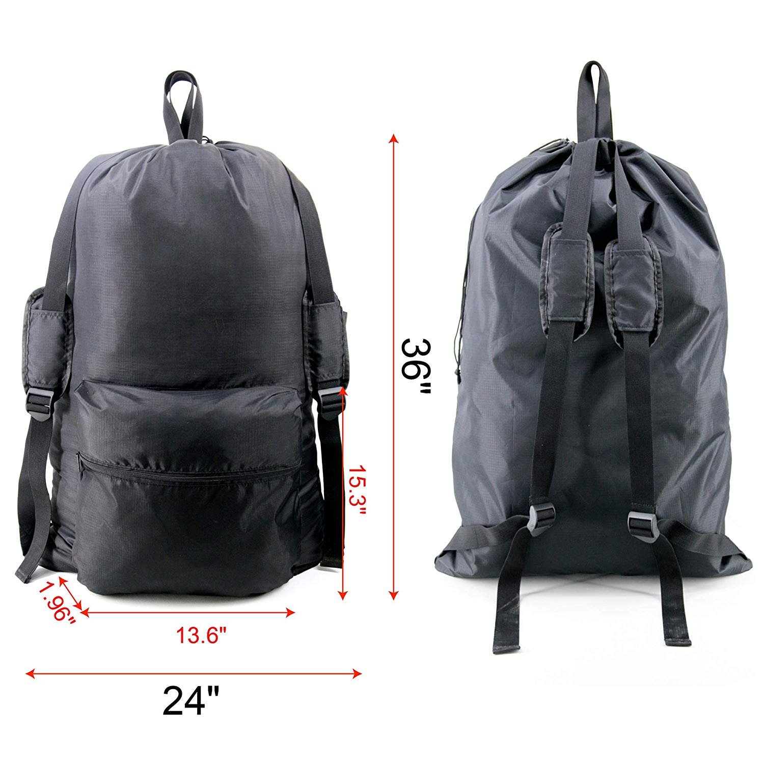 A backpack designed to carry laundry.