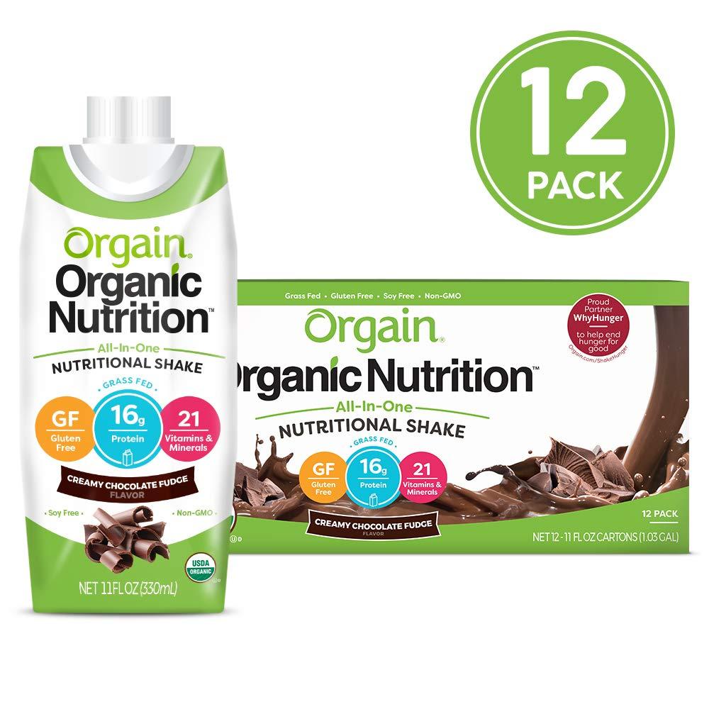 Orgain protein shakes.